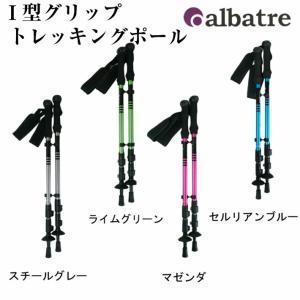 albatre(アルバートル)トレッキングポール/I型グリップ/登山/ウォーキング/ハイキング/AL-TIP2210/2本組