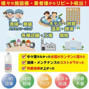 頑固な水垢取りにおすすめ 業務用水あか落とし洗剤 テラクリーナーヤマト 12本セット|yamatoayura|05