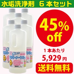 浴室のガラスや鏡の水あか取りにおすすめの業務用水垢落とし洗剤 テラクリーナーヤマト 6本|yamatoayura