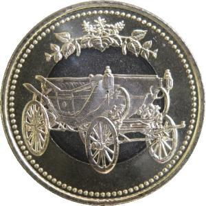 天皇陛下の御在位30年を記念して、2019年に発行された500円硬貨です。 写真と同程度の未使用品を...