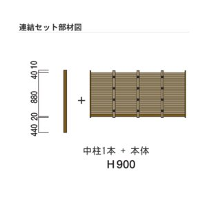 人工竹垣 Gユニット2型 みす垣 連結セット H900 丸竹・茶 仕様 (グローベン 竹 フェンス)|yamatojyu-ken