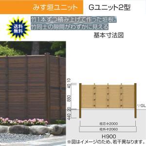 人工竹垣 Gユニット2型 みす垣 基本セット H900 丸竹・燻 仕様 (グローベン 竹 フェンス)|yamatojyu-ken