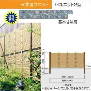人工竹垣 Gユニット2型 みす垣 基本セット H900 丸竹・黒 仕様 (グローベン 竹 フェンス)|yamatojyu-ken