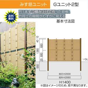 人工竹垣 Gユニット2型 みす垣 基本セット H1400 丸竹・黒 仕様 (グローベン 竹 フェンス)|yamatojyu-ken