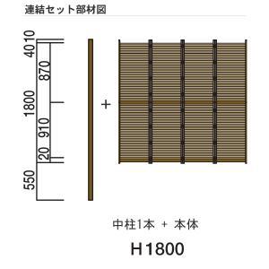 人工竹垣 Gユニット2型 みす垣 連結セット H1800 丸竹・黒 仕様 (グローベン 竹 フェンス)|yamatojyu-ken