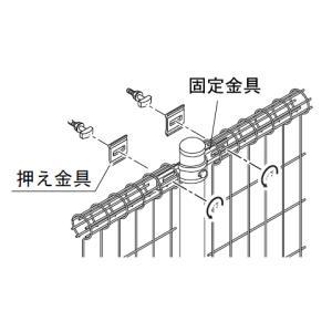 プロメッシュフェンス1型専用 中間部品セット H800〜H1500用共通 1組 (四国化成)|yamatojyu-ken