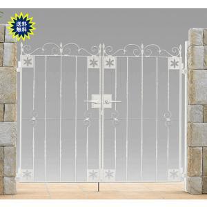 アルミ鋳物 トラディシオン 門扉 3型 両開き 門柱セット 07-12 (扉1枚700×1200mm)|yamatojyu-ken
