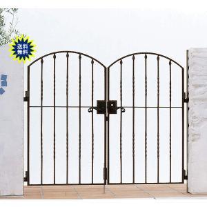 アルミ鋳物 トラディシオン 門扉 5型 両開き 門柱セット 07-12 (扉1枚700×1200mm)|yamatojyu-ken
