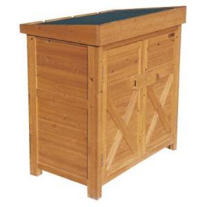 木製 物置 屋外 ガーデンストア W900 H1010 パネル式 収納庫 木製 送料無料|yamatojyu-ken