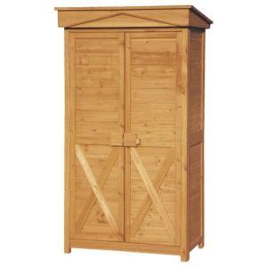 木製 物置 屋外 ガーデンストア W1000 H1950 収納庫 木製 パネル式 送料無料|yamatojyu-ken