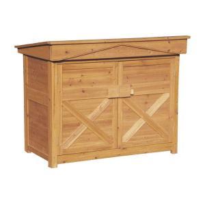 木製 物置 屋外 ガーデンストア W1200 H1060 収納庫 パネル式 木製 送料無料|yamatojyu-ken