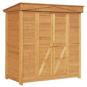 木製 物置 屋外 ガーデンストア 1911 W1800 H1950 収納庫 木製 パネル式 送料無料|yamatojyu-ken