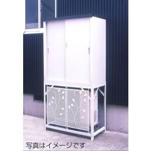 収納庫 物置 屋外 小型 + 室外機カバー スチール製 本州 送料無料 組立式|yamatojyu-ken
