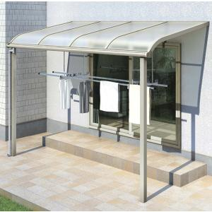 テラス屋根 ヴェクター アール型・柱標準 関東間1.5間4尺 600N YKK AP アルミテラス yamatojyu-ken