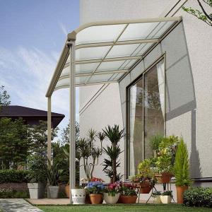 テラス屋根 ヴェクター アール型・柱標準 関東間1.0間5尺 600N YKK AP アルミテラス yamatojyu-ken