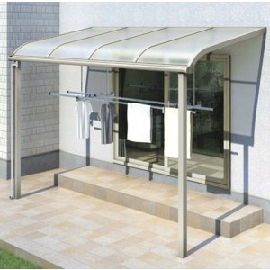 テラス屋根 ヴェクター アール型・柱標準 関東間1.0間7尺 600N YKK AP アルミテラス yamatojyu-ken