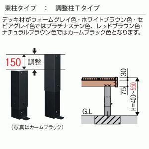 デッキ フェンス セット 樹脂 人工木 リウッドデッキ200 Tタイプ 2間6尺 基本3点セット  ( ルシアスデッキフェンスB01型 T80 + ステップ)|yamatojyu-ken|03