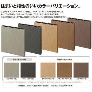 デッキ フェンス セット 樹脂 人工木 リウッドデッキ200 Tタイプ 2間6尺 基本3点セット  ( ルシアスデッキフェンスB01型 T80 + ステップ)|yamatojyu-ken|04
