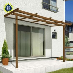 三協アルミテラス屋根 ナチュレ Nn型 テラスタイプ 壁付け納まり  間口1.0間×出幅8尺 600タイプ|yamatojyu-ken