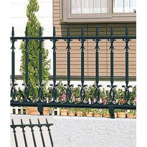 柵 フェンス ロートアイアン調 鋳物 キャスモア 3型 L1000 H600 フリー支柱セット 三協立山|yamatojyu-ken