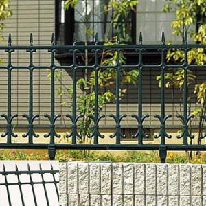柵 フェンス ロートアイアン調 鋳物 キャスモア 4型 L1000 H600 フリー支柱セット 三協立山|yamatojyu-ken
