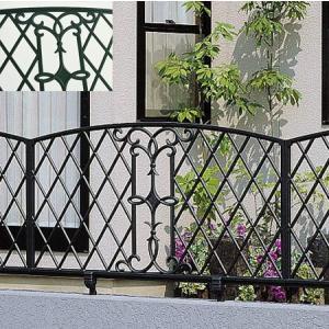 柵 フェンス ロートアイアン調 鋳物 キャスモア 6型 L1000 H600 フリー支柱セット 三協立山|yamatojyu-ken