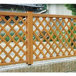 フェンス ラチス 木目調 樹脂 プラウディA型 1206 本体のみ 木粉入り 三協アルミ|yamatojyu-ken