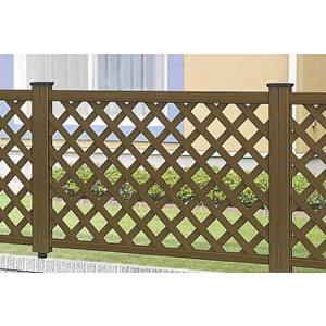 フェンス ラチス 木目調 樹脂 プラウディA型 1208 本体のみ 木粉入り 三協アルミ|yamatojyu-ken