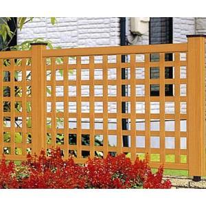 フェンス ラチス 木目調 樹脂 プラウディB型 1208 本体のみ 木粉入り 三協アルミ|yamatojyu-ken