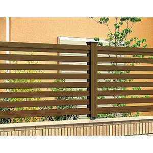 フェンス エクステリア 樹脂 プラウディC型 1210 本体のみ 木粉入り 三協アルミ|yamatojyu-ken
