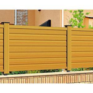 フェンス 目隠し 木目調 樹脂 プラウディE型 1206 本体のみ 木粉入り 三協アルミ|yamatojyu-ken
