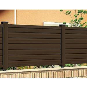 フェンス 目隠し 木目調 樹脂 プラウディE型 1210 本体のみ 木粉入り 三協アルミ|yamatojyu-ken