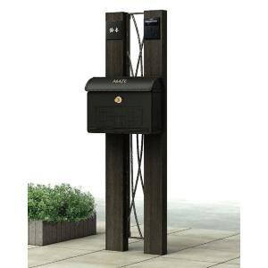 機能門柱・ポール ポストユニット ルシアス BW01型 組合せA ポスト・LED表札灯付 YKK AP yamatojyu-ken