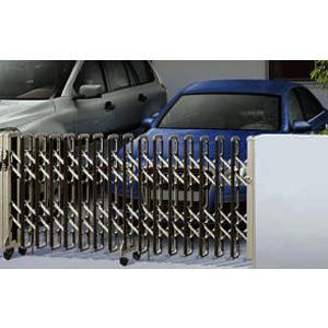伸縮ゲート レイオス2型 木調カラー H14 片開き 58S(全幅5807mm) (YKK AP アコーディオン門扉)|yamatojyu-ken