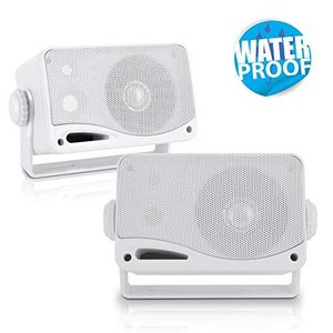 Pyle PLMR24 200W 3.5 inch 3-Way Weather Proof Marine Mini Box Speaker Syste|yamatoko