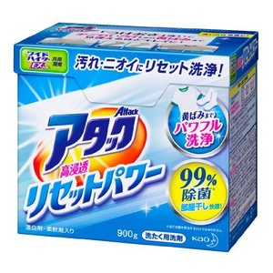 アタック 洗濯洗剤 粉末 高浸透リセットパワー 900g|yamatoko