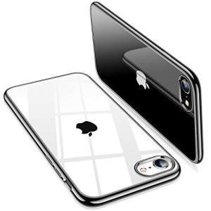 TORRAS iPhone SE ケース [第2世代] iPhone8/7ケース 背面クリア ブラック|yamatoko