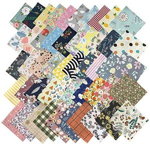 GUQI 200枚 綿 生地 はぎれセット 花柄 DIY手作り カットクロス パッチワーク 布 (10cm x 10cm)|yamatoko