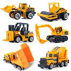 CORPER TOYS ミニカー 6台セット 建設工事作業車両 はたらく車 車おもちゃ モデルカー 建設現場コレクション|yamatoko