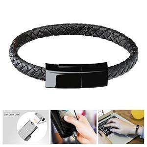 Bsolli ファッションウェアラブル腕輪&短いUSBケーブル 多機能ウェアラブルブレスレット ライトニングUSBケーブル iPhone/iPadに対|yamatoko