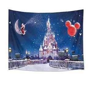 LB クリスマス タペストリー 夢幻の城 壁飾り 壁掛け おしゃれ 装飾布 欧米風 インテリア 多機能 パーティー 新年祝い 子供部屋 窓 お店 個性|yamatoko