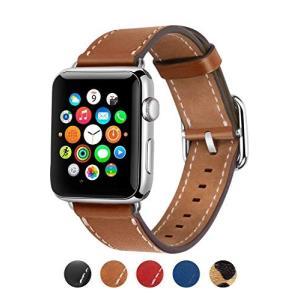 アップルウォッチ バンド 本革 レザーベルト コンパチブル 38mm 40mm 42mm 44mm applewatch 1.2.3.4.5対応 (4|yamatoko