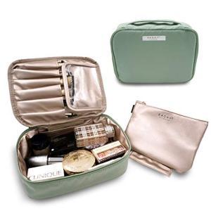 EACHY 化粧ポーチ 大容量 高品質 多機能 メイクポーチ コスメポーチ コンパクト アイシャドー ブラシ入れ付き バニティ 化粧道具入れ 超軽量|yamatoko