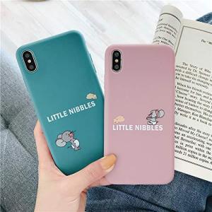 [saymi's] トムとジェリー iPhone ケース 携帯カバー 携帯ケース スマホ キャラクター かわいい ピンク くすみカラー ブルー 青 小|yamatoko