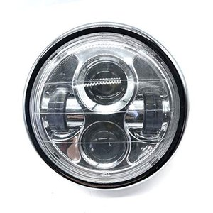 LED プロジェクター ヘッドライト 6 1/2インチ ブラック シルバー メッキ 汎用 ハーレー カフェレーサー ファイター CB400 XJR40|yamatoko