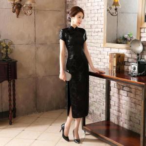 ブラックオーメン チャイナ ドレス レディース (全黒色(オールブラック)、M)op022al-bk...