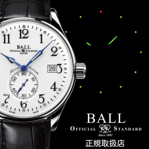 BALL ボールウォッチ Trainmaster トレインマスター Standard Time スタンダードタイム NM3888D-L1CJ-WH|yamatoya-co