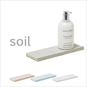 soil(ソイル) ディスペンサートレー 珪藻土 トレイ ソープボトル置き スポンジトレー 吸水 速...