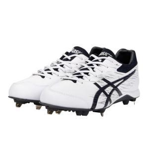 アシックス NEOREVIVE 4 1123A022  野球 スパイクシューズ ホワイト×ネイビー asics|yamazakisports-ysp