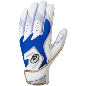 メール便送料無料 野球 少年用バッテング手袋   アシックス NEOREVIVE バッティング用手袋(両手) 3121A249 400 ロイヤル/ホワイト yamazakisports-ysp